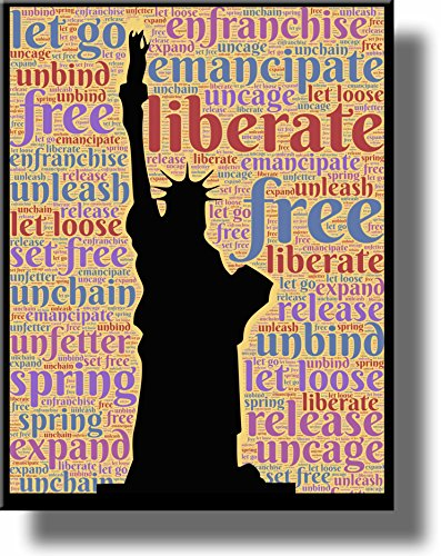 Statue of Liberty Room Sign Picture on Stretched Canvas,Wall Art Decor, Ready to Hang!