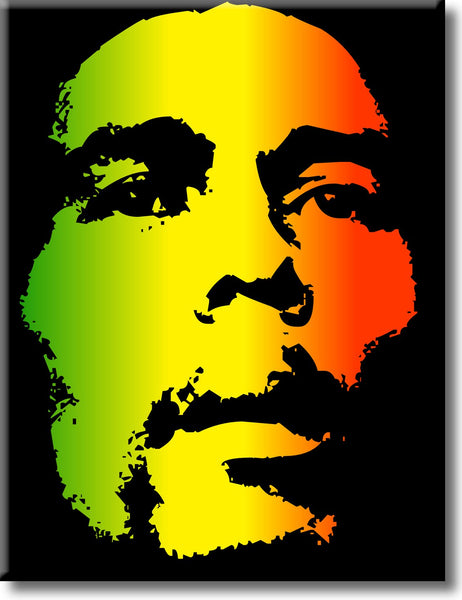 Portrait of Bob Marley Picture on Stretched Canvas, Wall Art Décor, Ready to Hang