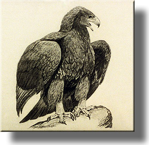 American Golden Eagle Picture on Stretched Canvas, Wall Art Décor, Ready to Hang!