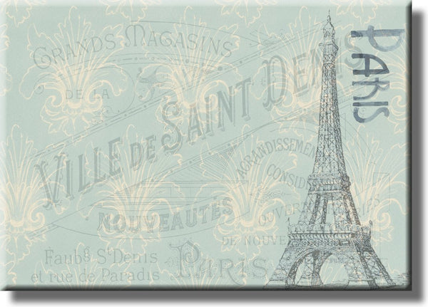 Paris Postcard, Ville De Saint Denis Picture on Stretched Canvas, Wall Art Décor, Ready to Hang