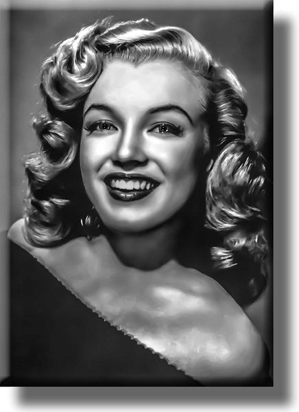 Marilyn Monroe Black and White Vintage Picture on Stretched Canvas, Wall Art Décor, Ready to Hang