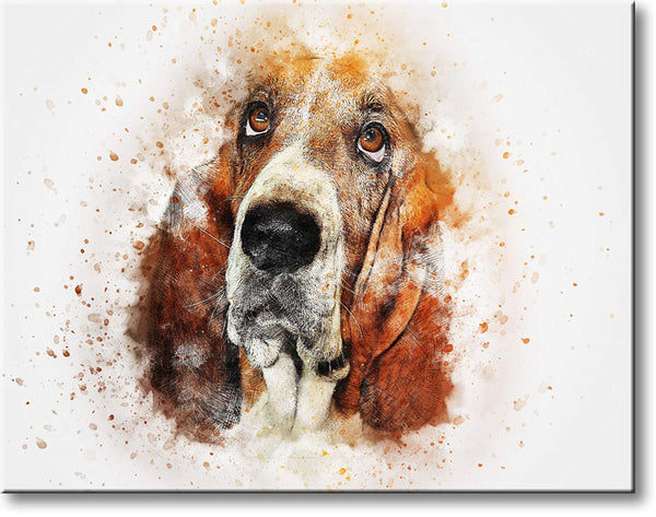 Dog Head Picture on Stretched Canvas, Wall Art Decor, Ready to Hang