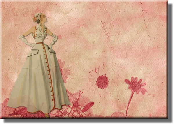 Vintage Fashion Picture on Stretched Canvas, Wall Art Décor, Ready to Hang