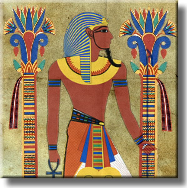Old Egyptian Art Picture on Stretched Canvas, Wall Art Décor, Ready to Hang