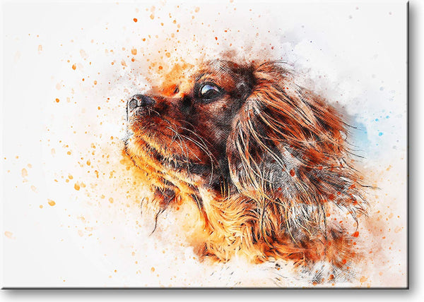 Brown Puppy Dog Picture on Stretched Canvas, Wall Art Décor, Ready to Hang