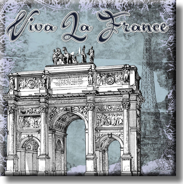 Viva La France Picture on Stretched Canvas, Wall Art Décor, Ready to Hang