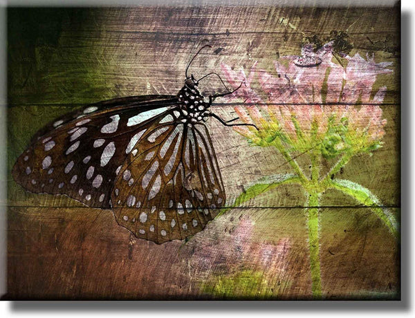 Vintage Monarch Butterfly Picture on Stretched Canvas, Wall Art Décor, Ready to Hang