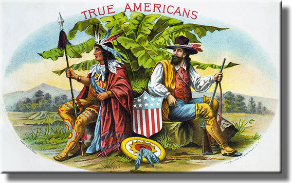True American Vintage Picture on Stretched Canvas, Wall Art Décor, Ready to Hang!