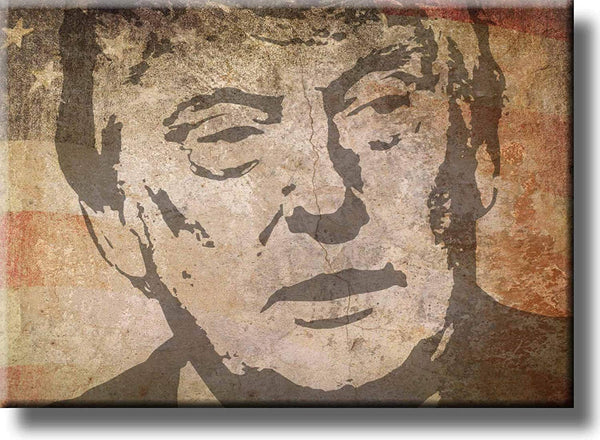 Vintage Donald Trump Picture on Stretched Canvas Wall Art Décor, Ready to Hang!