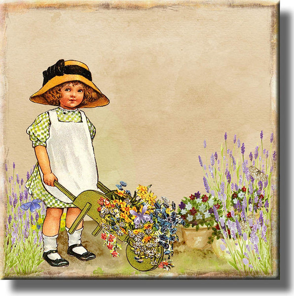 Flower Girl Picture on Stretched Canvas, Wall Art Décor, Ready to Hang
