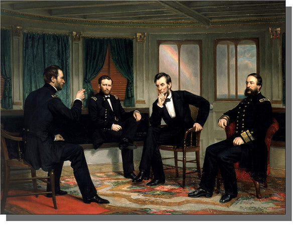 President Lincoln Head of State on Stretched Canvas, Wall Picture Art, Ready to Hang!