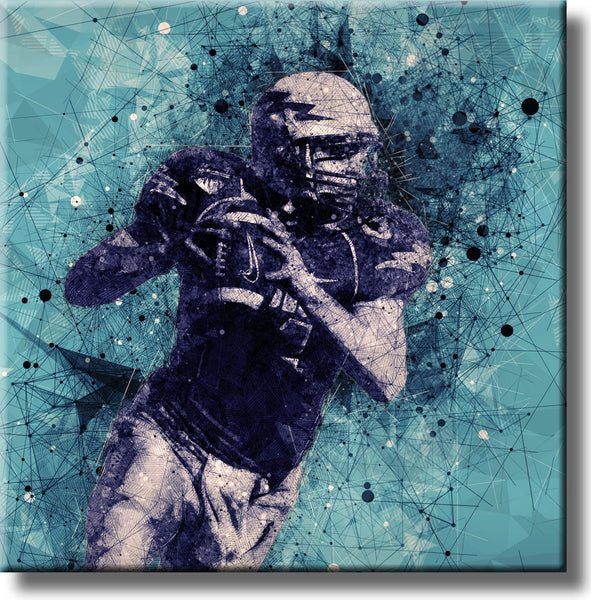 American Football Player Picture on Stretched Canvas, Wall Art Decor, Ready to Hang