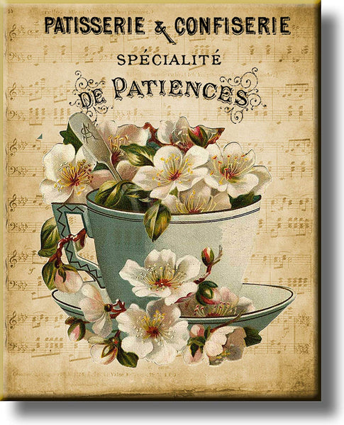 Patisserie & Confiserie, French Pastries and Sweets Picture on Stretched Canvas, Wall Art Décor, Ready to Hang