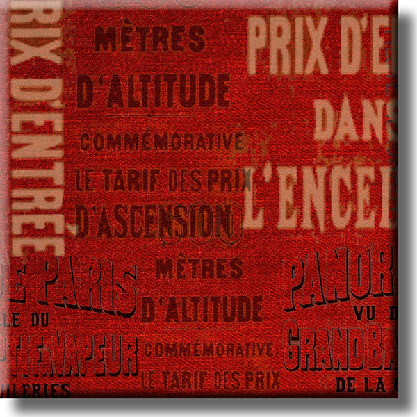 France Vintage Sign Picture on Stretched Canvas, Wall Art Décor, Ready to Hang