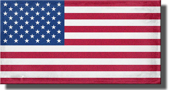 American Flag Picture, USA Flag on Stretched Canvas Wall Art Decor Ready to Hang!.