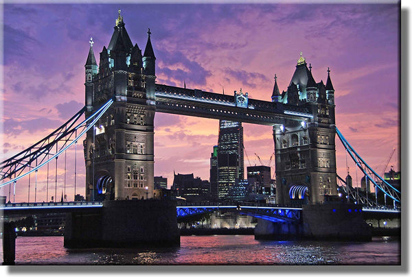 London Bridge Picture on Stretched Canvas, Wall Art Décor, Ready to Hang!