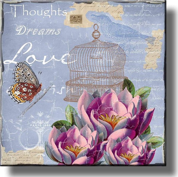 Thoughts Dreams Love Victorian Picture on Stretched Canvas, Wall Art Décor, Ready to Hang
