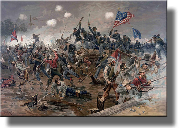 On Wood: Civil War Battle Picture Wall Art Decor, Ready to Hang!