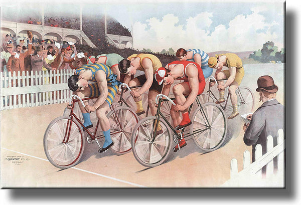 Bike Bicycle Vintage Picture Made on Stretched Canvas Wall Art Decor Ready to Hang!.