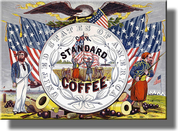 United States Standard Coffee Picture on Stretched Canvas, Wall Art Décor, Ready to Hang!