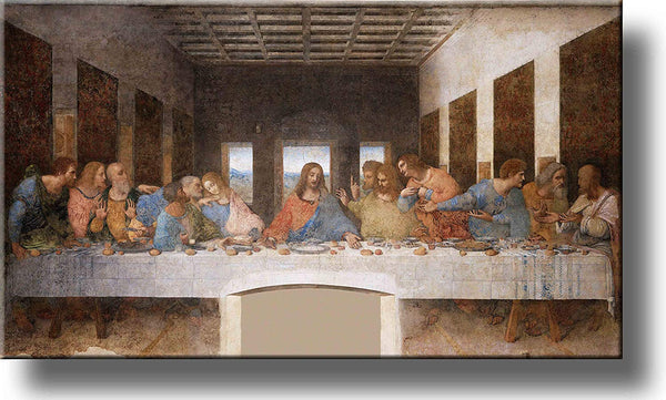 The Original Last Supper by Leonardo Da Vinci Painting Original Picture Made on Stretched Canvas Wall Art Decor Ready to Hang!.