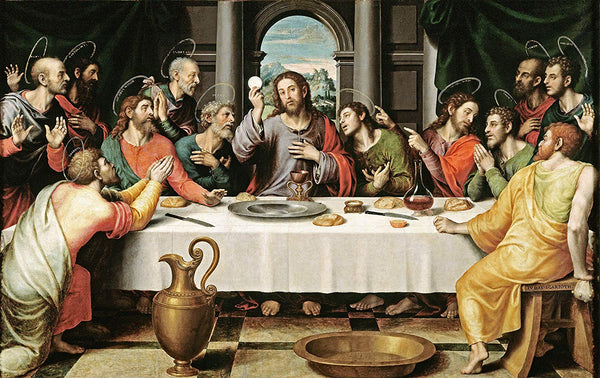 The Last Supper by Vicente Masip Picture on Stretched Canvas, Wall Art Décor, Ready to Hang!