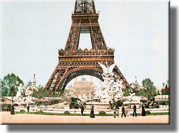 Vintage Eiffel Tower Picture on Stretched Canvas, Wall Art Décor, Ready to Hang!