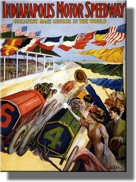 Indianapolis Motor Speedway Picture on Stretched Canvas Wall Art Décor Framed Ready to Hang!