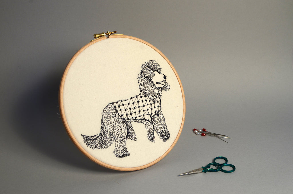Embroidered Hoop : Harriet Popham