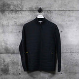 LACOSTE : Men's Lacoste Motion Bi-Material Quilted Hybrid Zip Cardigan, Dark Grey