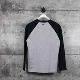LACOSTE : Men's Live Long Sleeves Raglan Top, Black/Grey