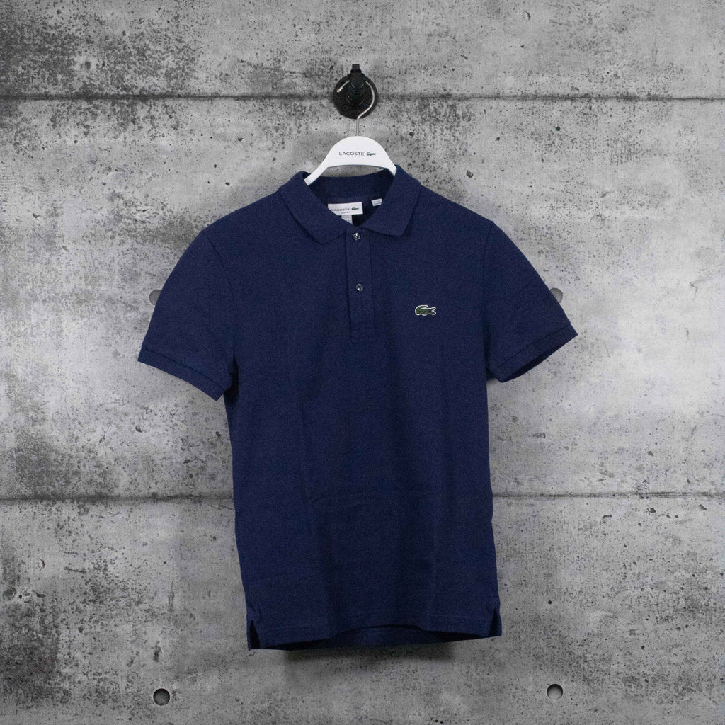 LACOSTE : Men's Petit Piqué Slim Fit Polo Shirt, Navy Blue