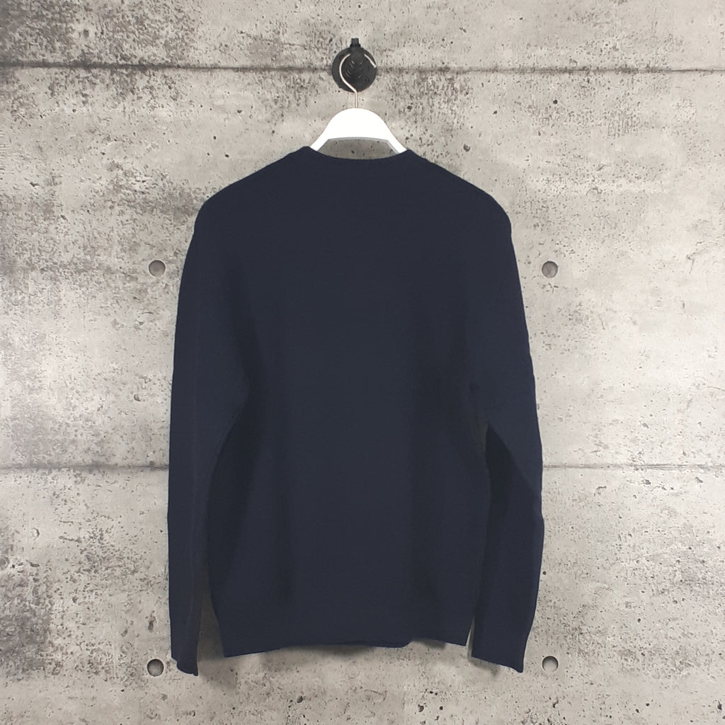LACOSTE :  Men's Crew Neck Cotton Sweater, Navy Blue