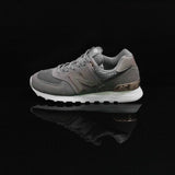 NEW BALANCE : Women's 574 Shoes, Grey/Rose Gold