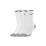 NIKE : Everyday Max Cushioned Crew Socks, 3 Pair Pack, White/Wolf Grey/Black