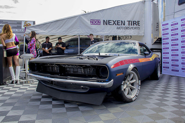 HOT ROD Garage built 1970 Plymouth Cuda with a Dodge 392ci Hemi Crate Engine, TR6060 6-speed transmission, and custom fabricated suspension built by Tony Angelo and Lucky Costa