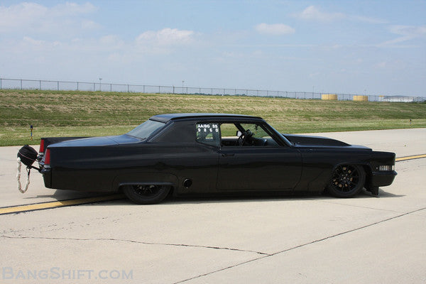 single turbo powered cadillac coupe deville land speed hot rod