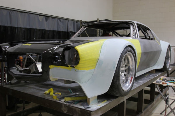 Roadster Shop builds a WILD WIDEBODY 1970 Camaro SS powered by a LS7 rated at over 700hp build by Thomson with cantilever suspension, custom carbon fiber aero components and all of the latest race gadgetry imaginable.