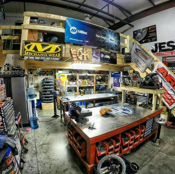 A list of the 10 best shops found on pinterest in no particular order featuring amazing tool boxes, work benches, floor finishes, awesome cars and tool collections as well as a way to plan for your own shop builds, hot rods and work stations.