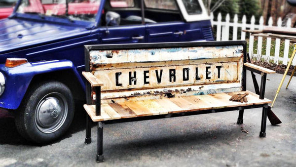 chevrolet chevy tail gate bench furniture - KillFab Clothing Company