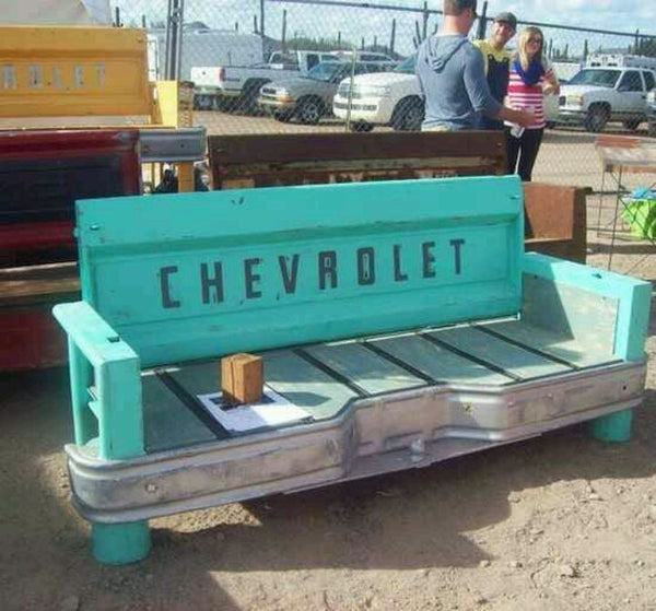 tailgate furniture ford chevy chevrolet bench automotive - KillFab Clothing Company