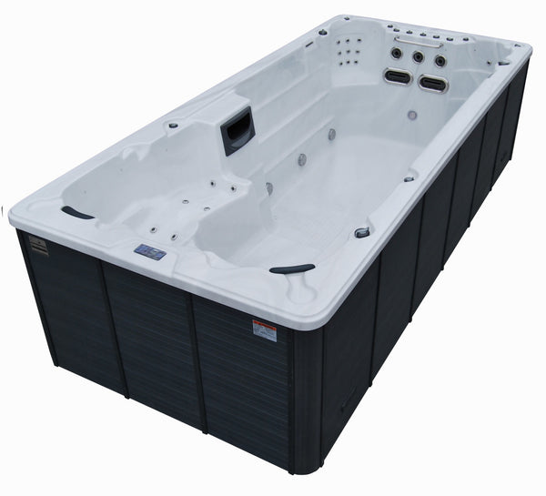 St Lawrence 20ft 17-Person 73 Jet Swim Spa with LED Lighting and Bluetooth Audio