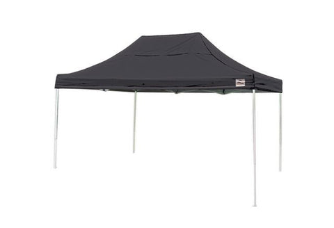 ShelterLogic Pro Series - 10 ft. x 15 ft. Straight Leg Pop-Up Canopy w/ Wheeled Storage Bag - BLACK
