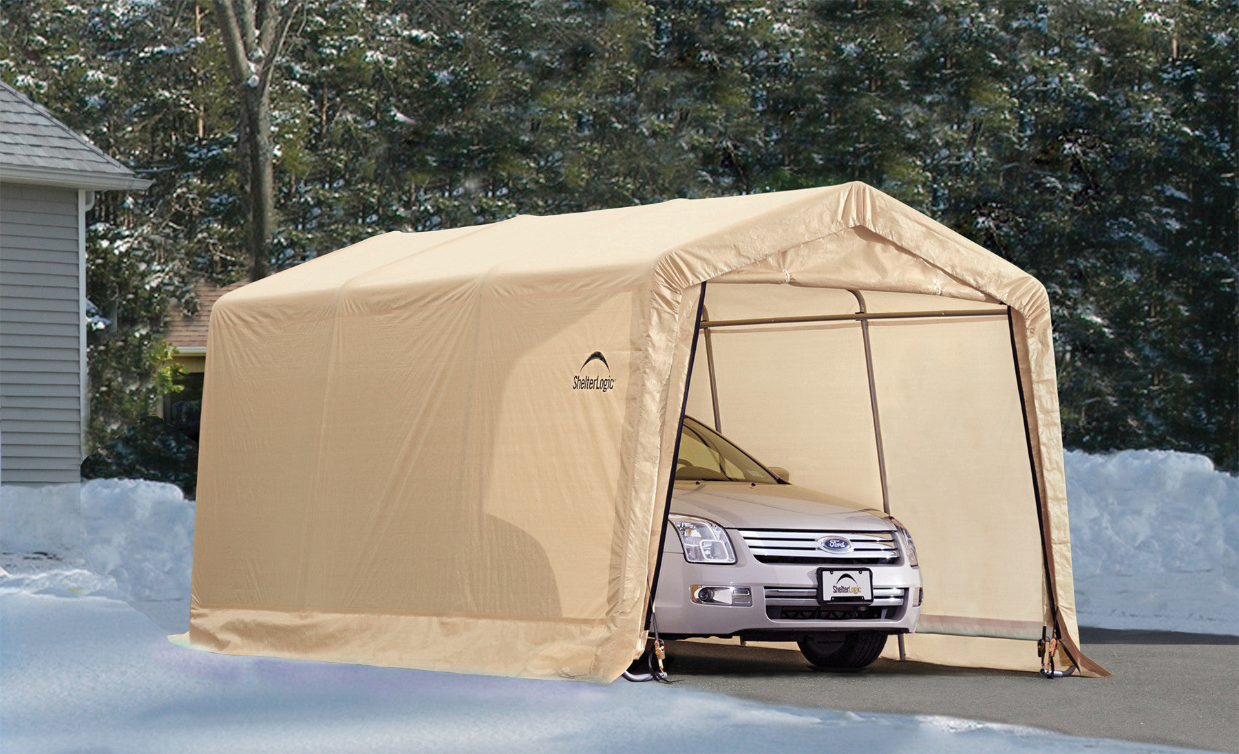 ShelterLogic AutoShelter 1015 Portable Garage - 10 ft. x ...