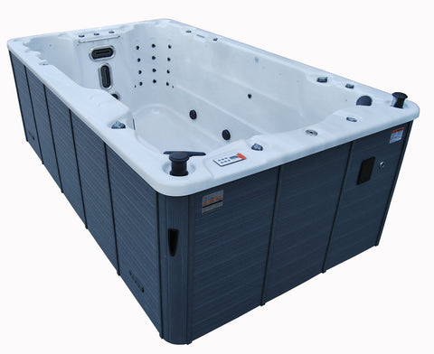St Lawrence 13ft 12-Person 39 Jet Swim Spa with LED Lighting and Bluetooth Audio