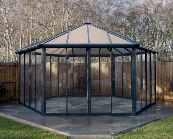 Palram Garda 19.5 ft. x 17 ft. Enclosed Gazebo