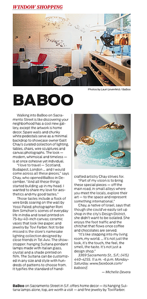 BaBoo in San Francisco Chronicle