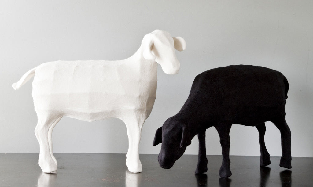 Felted Sheep Sculpture