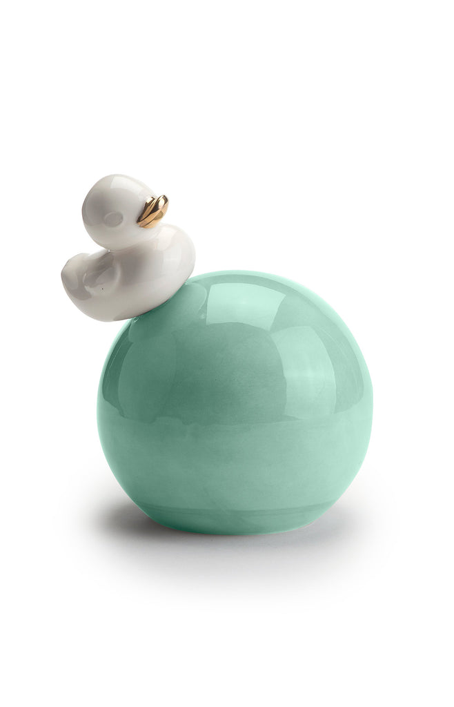 Ball with Ducky - Ceramic sculpture