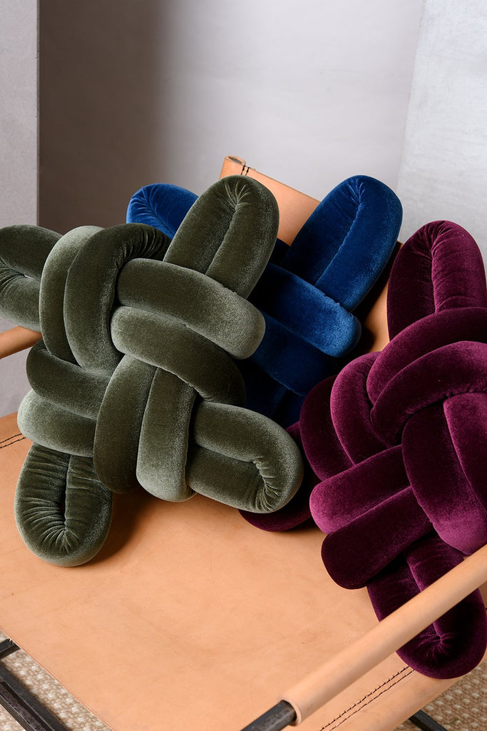 Velvet Knot Pillow